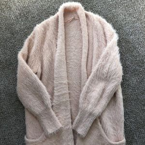 Anthropologie eyelash cardigan sweater, size S